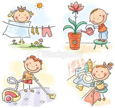 children and housework